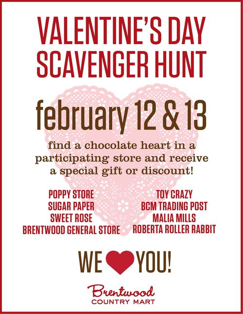 veryverychic: brentwood country mart's valentine's day scavenger hunt, Ideas
