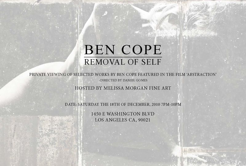 Ben cope removal show flyer