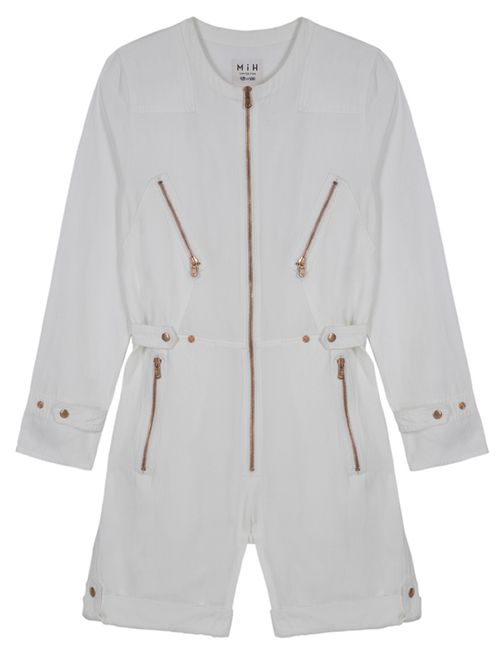 Shortie Boiler Suit White Fiction Twill