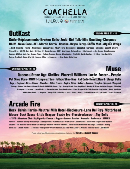 The Coachella Lineup Is Here!
