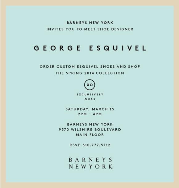 Meet George Esquivel at BARNEYS NEW YORK