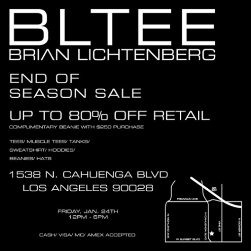 Shop LA: BLTEE Brian Lichtenburg End of Season Sale